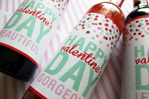 Free Printable Wine Labels from Ginger P Designs