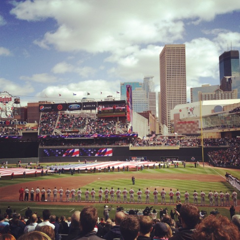 Target Field Opening Day 2012