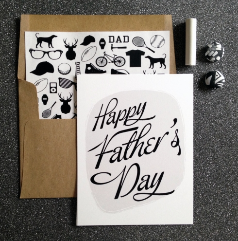 Classic Black and White Father's Day Card