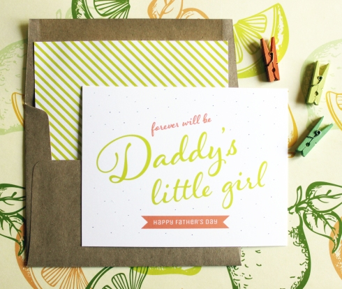Daddy's Little Girl Fathers Day Card
