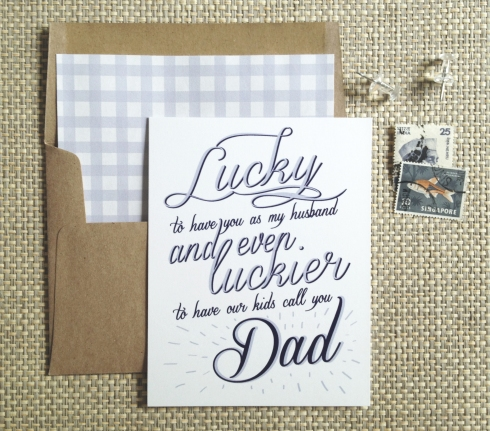 Lucky Wife Father's Day Card