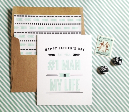 Number One Man Father's Day Card