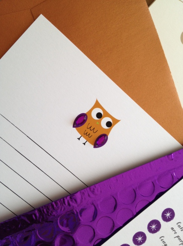 Owl notecard
