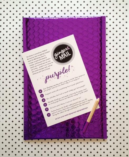 Purple glam mailer
