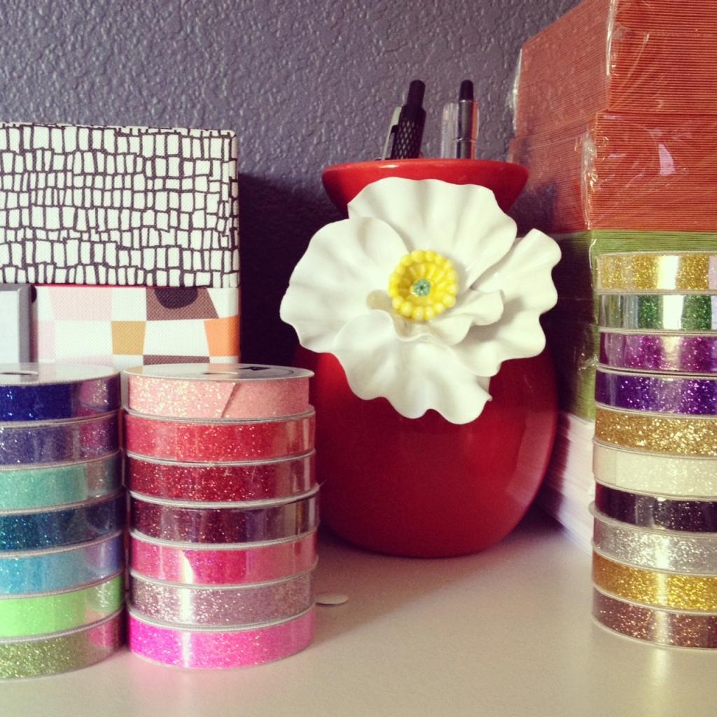 Glitter tape rolls