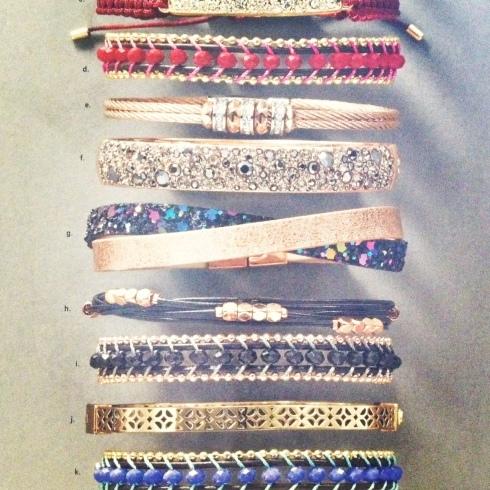 Fossil wrap bracelets