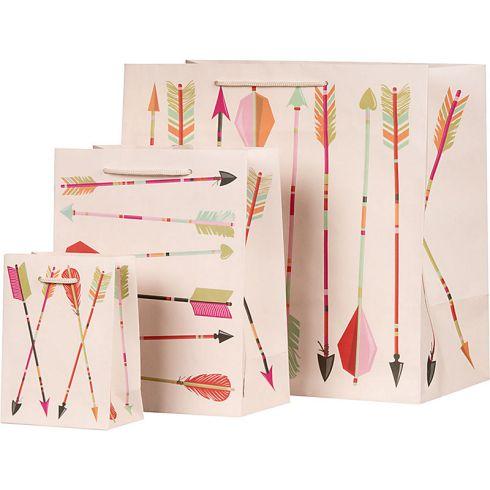 arrows gift bag