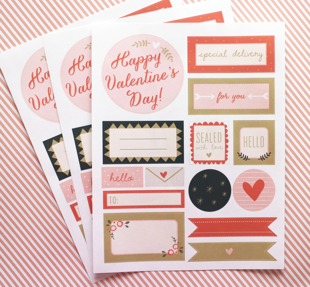 Valentine's sticker sheets
