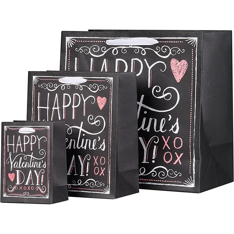 valentine chalkboard gift bags