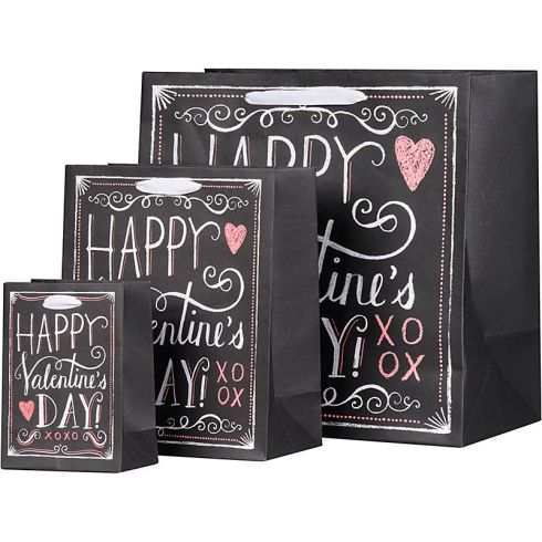 valentine chalkboard gift bags
